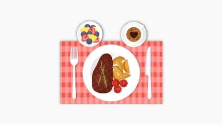 ilustrace jídlo