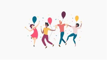 ilustrace párty